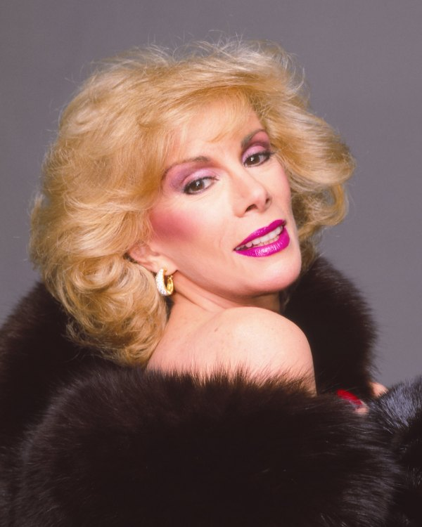 LOS ANGELES - 1987:  Comedian Joan Rivers poses for a portrait in 1987 in Los Angeles, California.  (Photo by Harry Langdon/Getty Images)